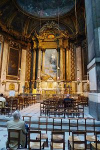 Back altar in the church of Saint Sulpice.