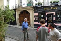 Preparing to film Br. Gerard Rummery in Rue Princesse