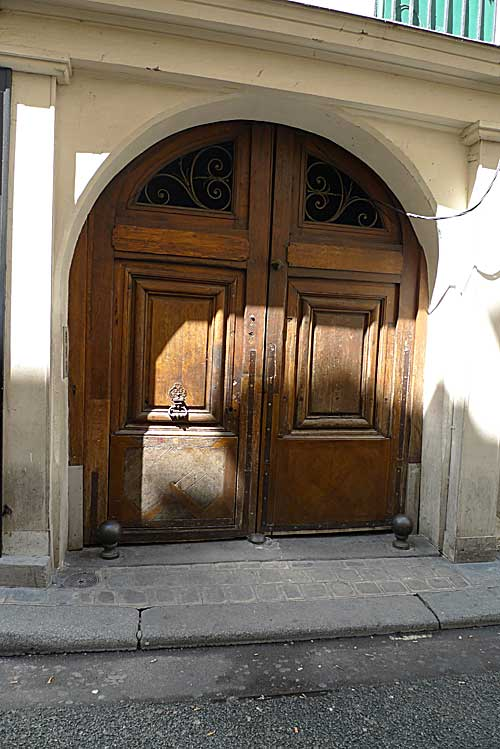 Entry doorway (from outside) into the building where the Lasallian school was located.