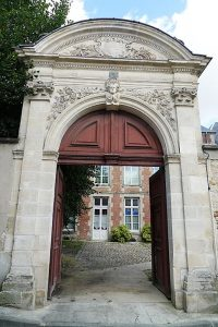 One of the ornate gateways of a house in Laon.
