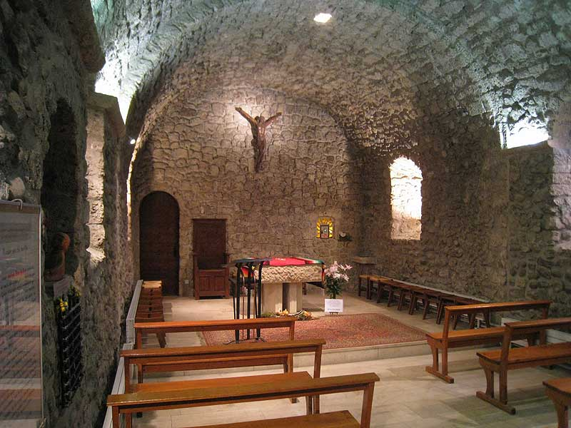 Inside the chapel at the Parmenie retreat center.