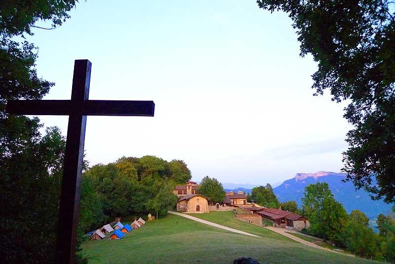 Sunset at the Parmenie retreat center.
