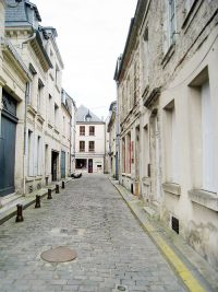 Street view outside of a former Lasallian school location in Laon, France.