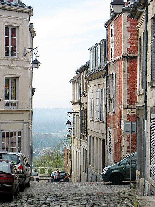 Looking into the valley from the hill town of Laon, France.