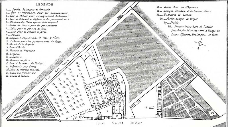 Early description of the property at St. Yon in Rouen.
